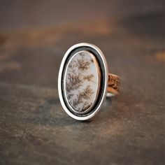 Fern Ring, Sterling Silver and Dendritic Agate Stone Jewelry, Size 8 Silver Rings With Stones, Sterling Silver Rings, Personalized Jewelry, Custom Jewelry, Jewelers Near Me, Making The Band, Jewelry Sites, Blue Topaz Necklace, Wholesale Silver Jewelry