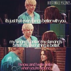 we all knew Austin and Ally still cared for each other ; Disney Channel Shows, Disney Shows, Austin Y Ally, Austin Moon, R5 Band, My Singing, Raini Rodriguez, Laura Marano, Ross Lynch