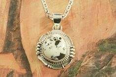 Beautiful White Buffalo Pendant at www.TreasuresoftheSouthwest.com/WB2816-p-Whats_New.html