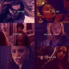 Buffy the Vampire Slayer. the chosen and called slayers