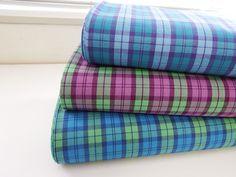▲綿(コットン) - 商品詳細 先染めタータンチェック 105cm巾/生地の専門店 布もよう