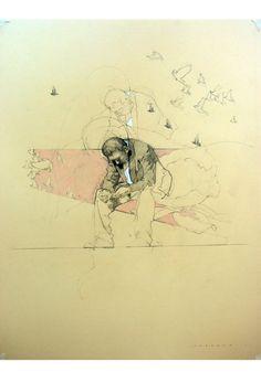 Drawings by Federico Infante, via Behance Art And Illustration, Kunst Inspo, Art Inspo, Figure Drawing, Painting & Drawing, Drawing Sketches, Art Drawings, Figurative Kunst, Sketchbook Inspiration
