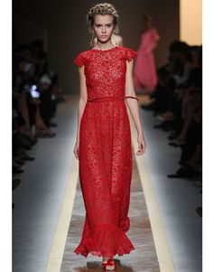 Valentino Spring 2012  Love the belted dress!
