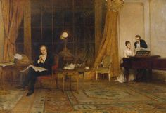 Her Mother's Voice (exhibited 1888). Sir William Quiller Orchardson (Scottish, 1832-1910). Oil paint on canvas. Tate.