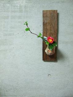 壁掛け生花 ikebana : cyaka