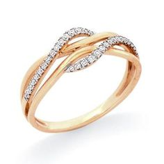 Diamond Ring in 14K Two-Tone Gold