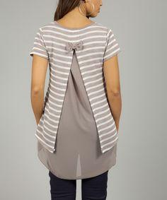 Molé Nina Stripe Ruffle Wool-Blend Tunic// So good for so many reasons.
