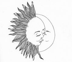 the sun loved the moon so much she died every night to let him breathe