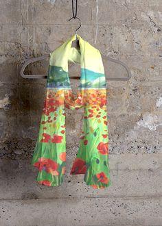 Cashmere Silk Scarf - Inked Cashmere Silk by VIDA VIDA mhiLwsQG