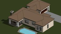 A four bedroom house plans drawing with garages for sale. Browse one storey 4 bedrooms house plans designs and Tuscan house plan designs in South Africa. Four Bedroom House Plans, Tuscan House Plans, 4 Bedroom House Designs, Garage House Plans, Bungalow House Plans, Double Storey House Plans, Built In Braai, African House, House Plans With Photos