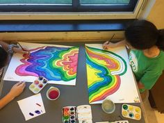 Middle School Art Projects, Art School, Primary School Art, School Projects, Elementary Art Rooms, Art Lessons Elementary, Collaborative Mural, Collaborative Art Projects For Kids, Spring Art Projects