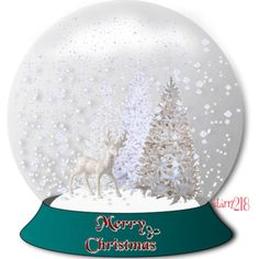 Christmas Snow Globes   White Christmas- Snow Globe - Polyvore