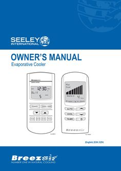 EXD, EZD, EXH, EZH Owner's Manual   Breezair by Seeley International