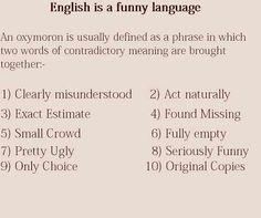 Best oxymorons