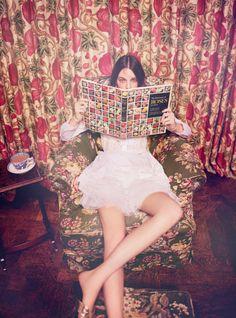 ibbyfashion:  Vittoria Ceretti by Ellen Von Unwerth Harpers...
