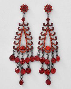 Amazon.com: Red Dangle Earrings: Jewelry