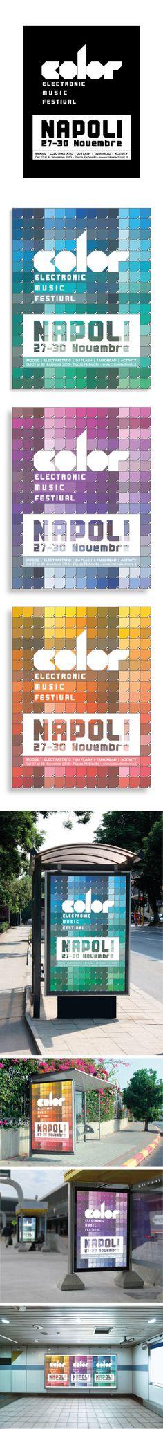Manifesto/Poster Electronic Music Festival Napoli Misure: 100x140 cm © @Centro Studi Ilas  ® 2013 - Vincenzo Compagnone / Docente Alessandro Cocchia