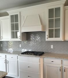 Desert Gray Subway 3x6 Gloss Finish, In Herringbone Pattern Herringbone  Backsplash, Subway Tile Backsplash