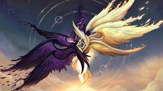 Kayle and Morgana rework League of Legends Lol League Of Legends, Morgana League Of Legends, League Of Legends Poppy, Dark Fantasy Art, Anime Fantasy, Fantasy Artwork, Fantasy Monster, Monster Art, Mythical Creatures Art