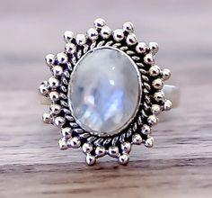 Moonstone Sun Ring