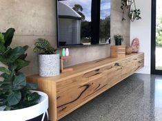 Tv Furniture, Custom Furniture, Tv Cabinet Design Modern, Modern Design, Hanging Tv On Wall, Floating Tv Unit, Recycled Timber Furniture, Tv Cupboard, Tv Unit Decor
