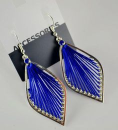 Blue Foliage Dangle Earrings Dangle Earrings, Pendant Necklace, Leaf Shapes, Sammy Dress, Holiday Fashion, Dangles, Elephant, Glamour, Chic