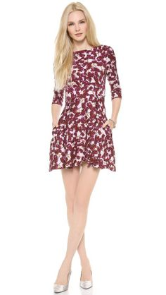 SUNO 3/4 Sleeve Flared Dress | How would you accessorize this? http://keep.com/suno-34-sleeve-flared-dress-by-chelsea21/k/0QUxS3ABBN/