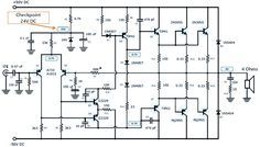 This Is A 200w Power Amplifier Circuit Project The Circuit Features High Power Good Definition And Ver Power Amplifiers Amplifier Electronic Circuit Projects