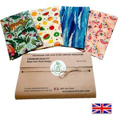 SUSTAINABLE, NATURAL ALTERNATIVE to plastic wrap, and sandwich bags. PROUDLY HANDMADE IN THE UK – BEE Zero Waste beeswax food wraps are Handmade in the UK, using the Finest Beeswax from Beekeepers based in the UK, Locally sourced Natural Pine Resin and 100% Natural Cotton Fabric, with added Organic Cold Pressed Raw coconut oil