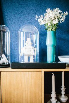 Home sweet home - Unser Esszimmer - Mummy Mag Pantone Navy, Sweet Home, Color Trends, Glass Vase, Interior, Modern, Inspiration, Blue, Design