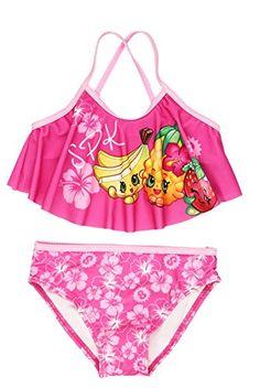 Get Shopkins Girls Swimwear Swimsuit (Little Kid) at beachaccessoriesstore Barbie Fairy Cake, Shopkins Girls, Baby Alive Food, Toddler Swimsuits, Girls Bathing Suits, Cute Bikinis, Cute Baby Clothes, Bikini Fashion, Cool Suits