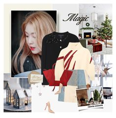 """Christmas is coming"" by rainie-minnie ❤ liked on Polyvore featuring Marc Jacobs, Boohoo, CÉLINE, Vika Gazinskaya and Casadei"