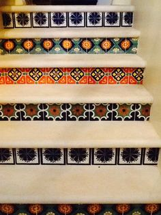 Ideas For Using Mexican Tile To Decorate Or Remodel Staircases And Stair  Risers