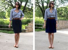 The Great Gingham Shirt, May 31 '12 www.whatiwore.tumblr.com