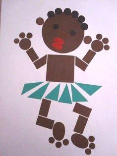 ГЕОМЕТРИЧЕСКИЕ АППЛИКАЦИИ 2 Bunny Crafts, Cute Crafts, Diy And Crafts, Paper Crafts, Diy For Kids, Crafts For Kids, Baby Drawing, Bubble Art, Math Art