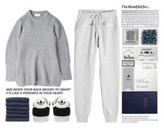 """I want you here with me, Like how I pictured it  So I don't have to keep imagining."" by one-styles ❤ liked on Polyvore featuring adidas, Acne Studios, NARS Cosmetics, Belkin, Smythson, adidas Originals, Linum Home Textiles and thanksgiving"