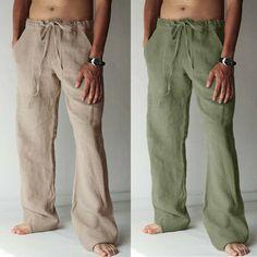 Mens Casual Linen Cotton Harem Pants Beach Yoga Pants Drawstring Hippy Trousers - Ideas of Mens Yoga Pants Harem Pants Men, Cotton Harem Pants, Yoga Pants, Moda Hippie, Hippie Men, Linen Suits For Men, Hippie Pants, Beach Yoga, Pantalon Large