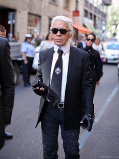 Karl Lagerfeld…Milano
