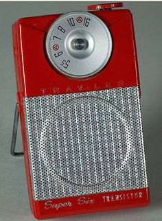 Mid 60s transistor radio - looks like the one I'd slip under my pillow every night