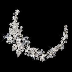 Crystal and Rhinestone Wedding Tiara Clip- Affordable Elegance Bridal -
