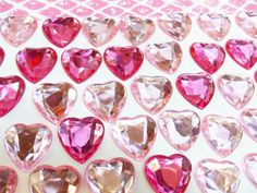 20x 18mm Pink Resin Heart Cabochons by CuteCornwall on Etsy, £2.00