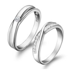 Twist Swiss Diamond Pave Setting and Sterling Silver Lovers 48 - EveAllure