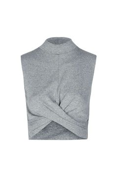 Add interest to simple layers with this knot front style crop. Comes in a classic grey colour-way and a slinky fit and high neckline, with a twist-knotted detail to the front. Crop Top Outfits, Date Outfits, Spring Outfits, Cropped Tops, Cami Crop Top, Crop Tee, Tall Clothing, Female Clothing, Pregnancy Looks