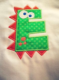 Dinosaur  Applique by MadewithLoveNC on Etsy, $23.00