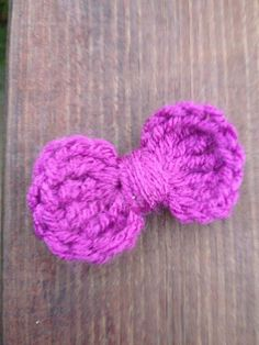 Purple Crochet Hair Bow by MyPipsqueakBoutique on Etsy, $5.99