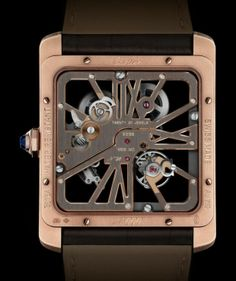 The back of the Cartier Tank MC Two-tone Skeleton Cartier Tank Mc, Cartier Men, Cartier Calibre, Tank Watch, Watches For Men, Men's Watches, Luxury Watches, Fashion Watches, Skeleton