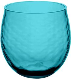 TarHong Azura Roly Stemless Wine Glass (Set of 4) in Teal Blue (commission) #teal #blue #wine #glasses #wineglasses #stemless #kitchen #decor #homedecor