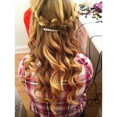 Other awesome hairstyles! For this look you need to: take a piece of your hair (for the braid) and put it in a pony tail, then curl your hair and make the plat over your head like a crown! i think thats how you do it! XD i personally think this is used for partys or events, etc.