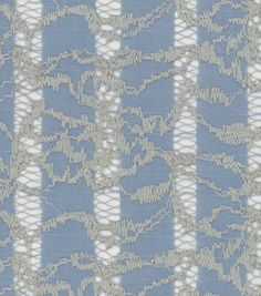 Sunwashed Meadow Stripe Lace Blue Silver Nylon CottonSunwashed Meadow Stripe Lace Blue Silver Nylon Cotton,