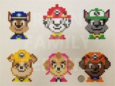 Billedresultat for paw patrol perler beads You are in the right place about Beading christmas Here we offer you the most beautiful pictures about the Beading fashion you are looking for. Easy Perler Bead Patterns, Pearler Bead Patterns, Diy Perler Beads, Perler Bead Art, Bead Loom Patterns, Beading Patterns, Jewelry Patterns, Knitting Patterns, Quilt Patterns